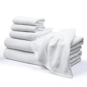 Yescom 6Pcs Bathtub Towel Sets Bath Hand Face Towels, White