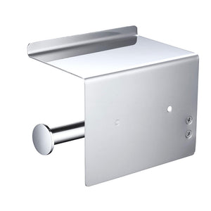 Aquaterior Toilet Roll Holder with Shelf, Wall-mounted, Stainless