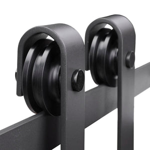 (AU) 6.6 foot Heavy Duty Sliding Barn Door Track 2 Rollers