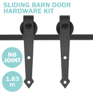 (AU) 6ft Heavy Duty Sliding Barn Door Track 2-Roller