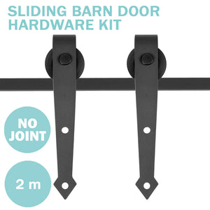 (AU) 6.6ft Heavy Duty Sliding Barn Door Track 2-Roller