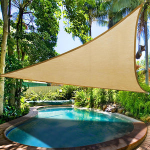 (AU) Triangle Shade Sail Patio Deck Pool Shade Cloths 3.5M