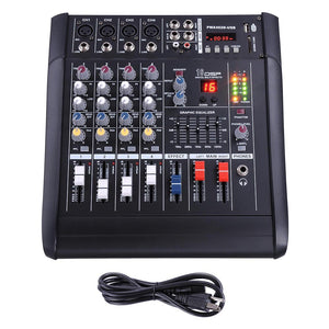 Yescom Music Powered Mixer/Amplifier Club Audio 4 Channels