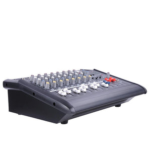 Yescom Music Powered Audio Mixer/Amplifier Club 8 Channels
