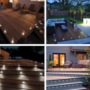 Yescom Recessed LED Deck Light Fixtures Transformer Kit 10Pack Cool White