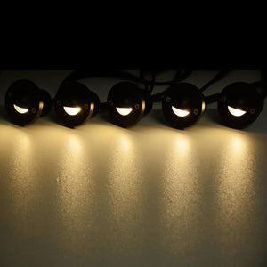 Yescom Recessed LED Deck Light 10Pack Step Patio Warm White
