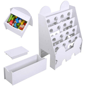 Yescom 5 Tier Kid Bookshelf Bookcase Reading Nook Toy Storage White