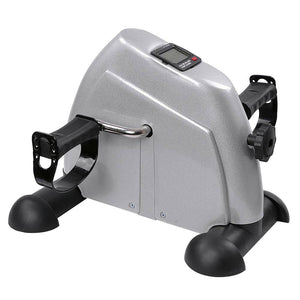 (UK) Mini Exercise Bike Arm Leg Pedal Exerciser Home Fitness Silver