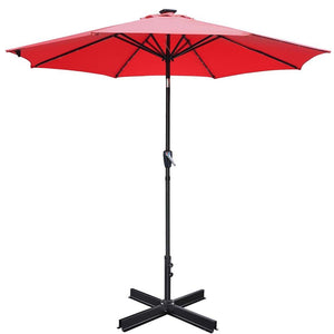 "Yescom Patio Umbrella Stand Metal Cross Base for up to 2"" Poles"