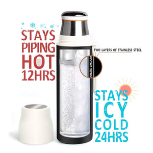 Yescom 16oz/480ml Stainless Steel Water Bottle Vacuum Insulated Thermal Cup