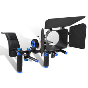 Camera Video DSLR Rig Follow Focus Matte Box Shoulder Mount