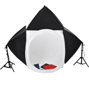 "Yescom 32"" Photography Lighting Box Studio Tent Kit w/ 3 Softboxes"