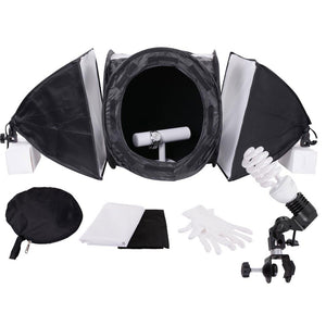 "16"" Photo Cube Studio Tent Kit w/ Softboxes Background"