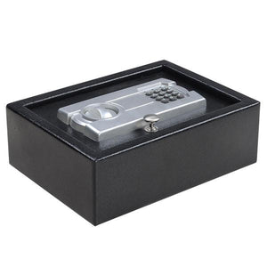 Security Electronic Digital Pistol Drawer Safe Box Black