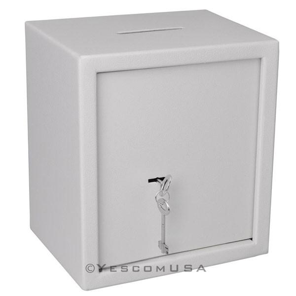 Home Office Small Depository Drop Slot Safe Box White
