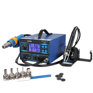 Yescom 992DA Soldering Station SMD Hot Air Iron Rework Fume Extractor