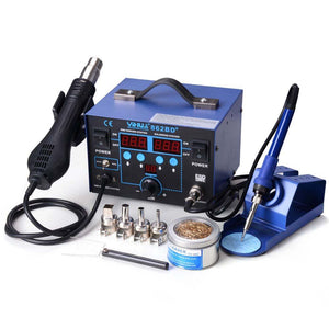 2in1 Lead-free Air Gun & Soldering Iron Solder Station Kit