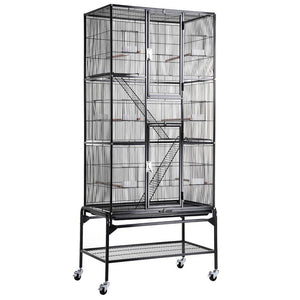 "32""x18""x69"" Cockatiel Parrot Bird Flight Cage"
