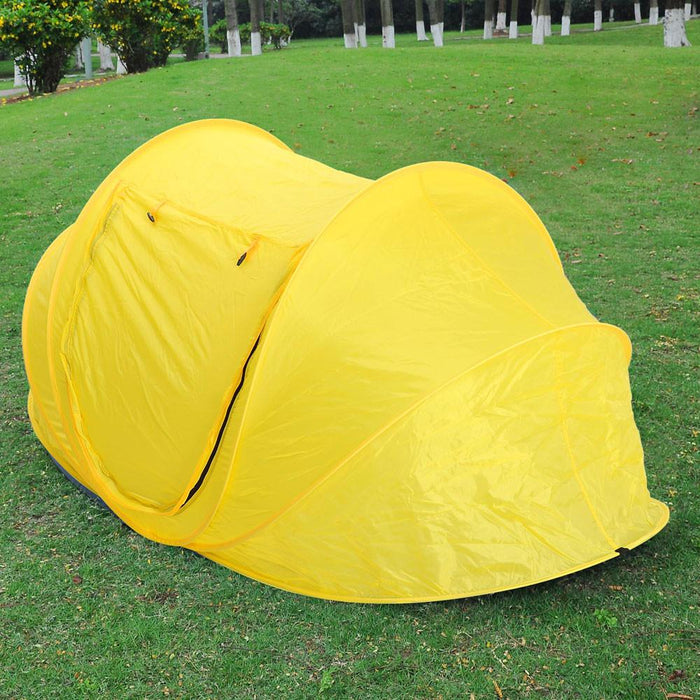 Yescom Popup Beach Tent Portable Camping Shelter Yellow