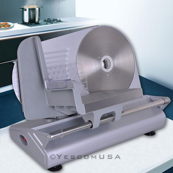 Electric Stainless Steel Food Slicer Meat Cutter With 8 5
