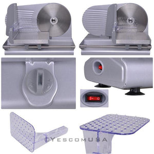 "Electric Stainless Steel Food Slicer Meat Cutter with 8.5"" Blade"