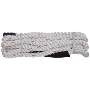 "White Poly Dacron Workout Training Rope 1-1/2"" 30ft"