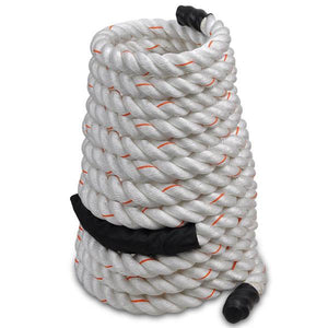 "White Poly Dacron Workout Training Rope 2"" 50ft"