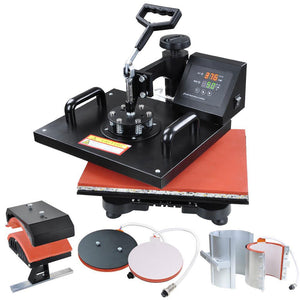 5in1 12x15 Digital Heat Press Sublimation Transfer Machine