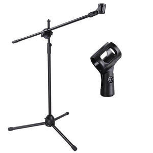 Adjustable Stage Microphone Boom Stand Tripod Holder Black