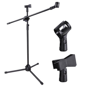 Yescom Microphone Boom Stand w/ 2 Mic Clips Adjustable Tripod