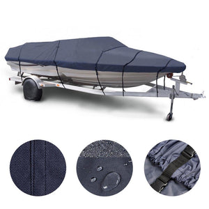 16'-18' V-Hull Watercraft Fish Ski Trailerable Boat Cover