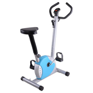 Upright Cycle Fitness Exercise Indoor Cycling Bike Blue