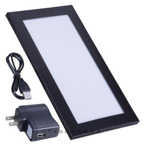 LED Back Lit Folded Menu Holder Single Page 5-1/2x11in