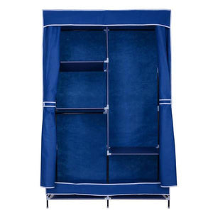 "42"" Portable Wardrobe Storage Clothes Closet Organizer Blue"