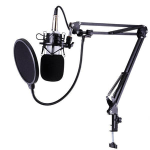 Yescom Studio Vocal Recording Microphone Kit w/ Shock Mount & Filter