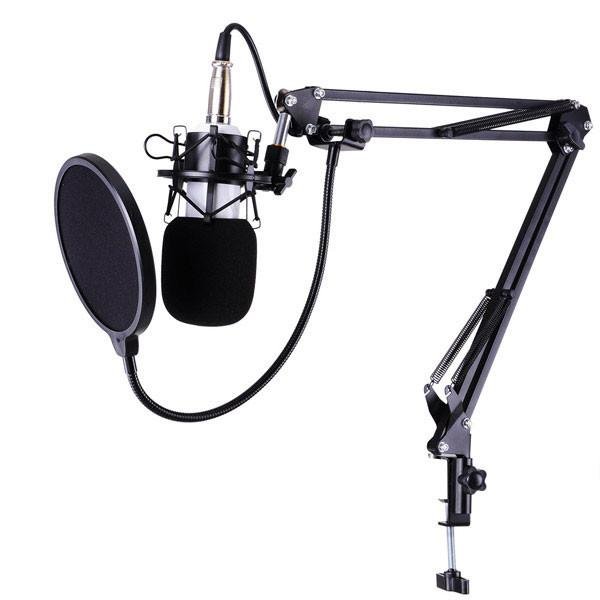 Studio Vocal Recording Microphone Kit W Shock Mount