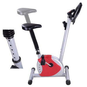 Upright Exercise Bike Home Fitness Cycle Red