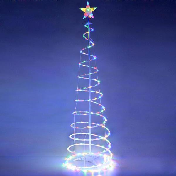 Yescom 5' Lighted Spiral Christmas Tree LED Decor Multi-Color