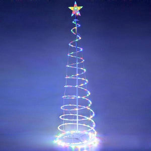 Yescom 6' Lighted Spiral Christmas Tree LED Decor Multi-Color