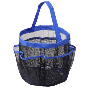 8 Pocket Portable Shower Mesh Caddy Tote Bag Handle