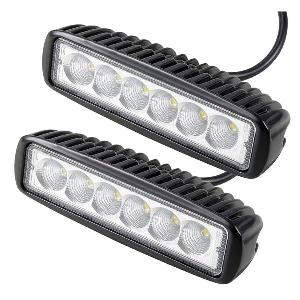 "2pcs 18w 6"" Car Off Road LED Work Light Bar Truck SUV"