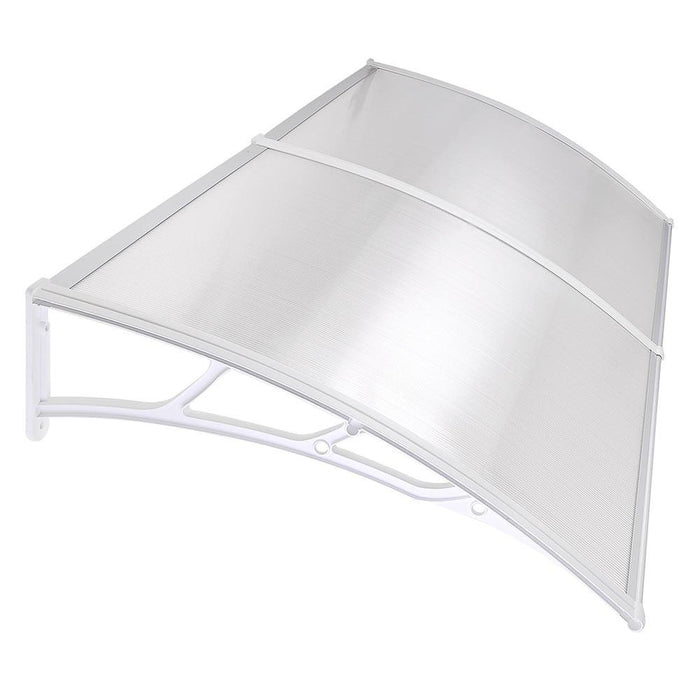 "Yescom Door & Window Poly Awning Canopy 78""x39"" Clear White"