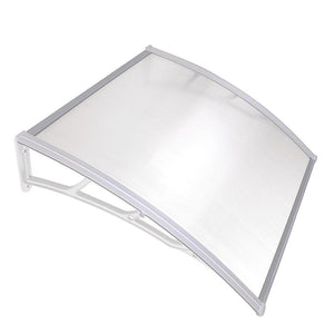 "LAGarden 39""x39"" Door & Window Awning Canopy Clear Polycarbonate White"