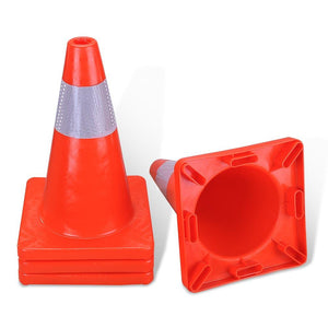 Yescom 4pcs 18-In Road Traffic Safety Cones Reflective Collar