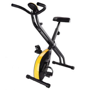 Folding Magnetic Upright Exercise Bike Indoor Fitness Black