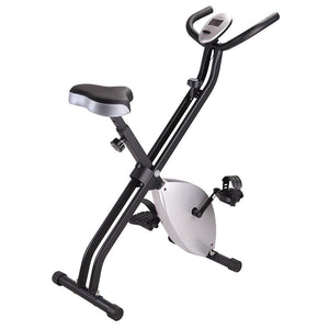 Folding Magnetic Upright Exercise Bike Indoor Fitness Silver