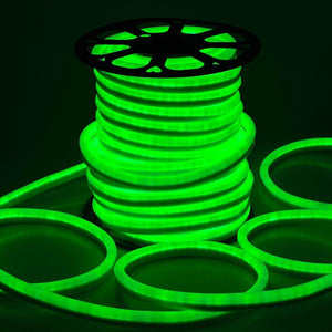 DELight Holiday Decor Lighting Flex LED Neon Rope Light Green 150ft