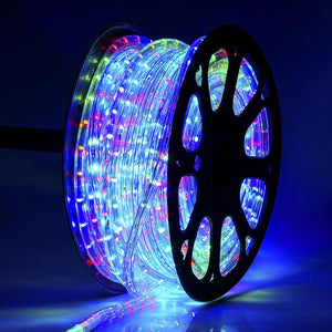 DELight Holiday Lighting LED Rope Light Spool 150ft RGBY