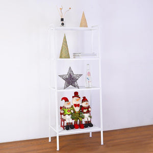 Yescom 4-Shelf Metal Ladder Book Shelf Open Bookcase White