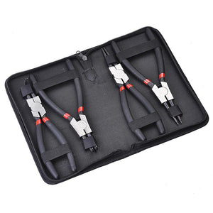Yescom 4pcs 9in Straight Bent Circlip Snap Ring Plier Kit w/ Case